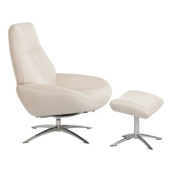 Fauteuil relaxation design avec repose-pieds OSLO