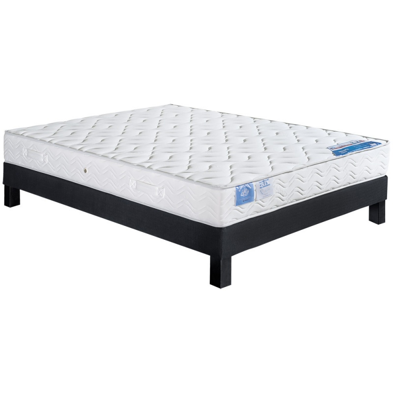 ensemble literie matelas ressorts ensach s celtic sommier lattes l11. Black Bedroom Furniture Sets. Home Design Ideas