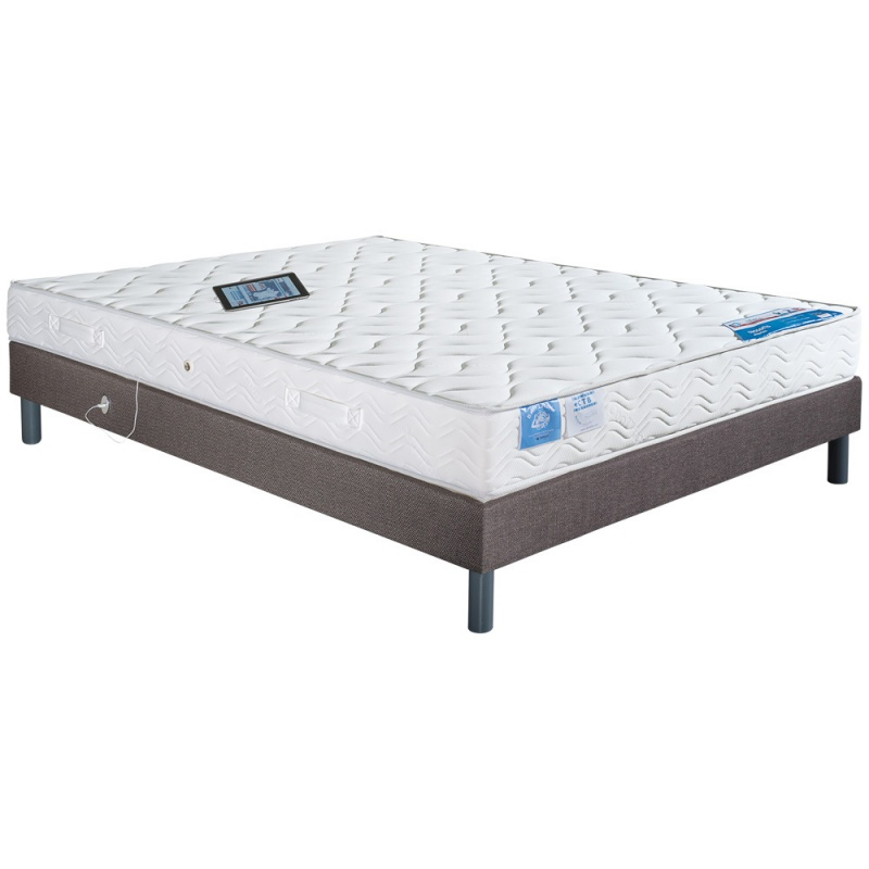 matelas ressorts celtic et sommier lattes et port usb. Black Bedroom Furniture Sets. Home Design Ideas