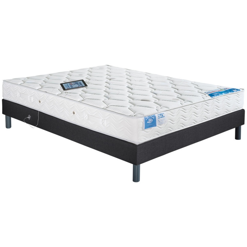 ensemble literie matelas ressorts latex cosmos et sommier port usb neo. Black Bedroom Furniture Sets. Home Design Ideas