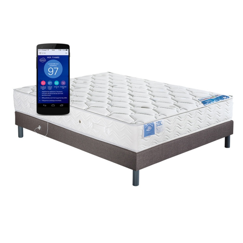 ensemble literie connect matelas ressorts morphea et sommier neo usb. Black Bedroom Furniture Sets. Home Design Ideas