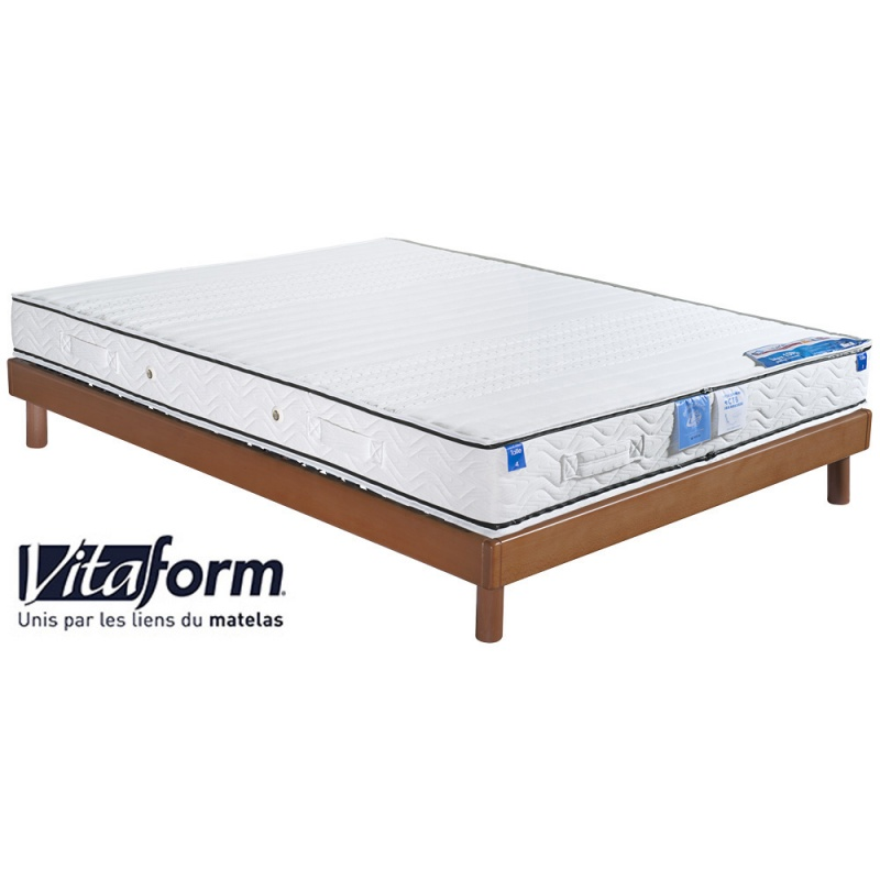 ensemble literie matelas 100 latex vitaform sommier. Black Bedroom Furniture Sets. Home Design Ideas