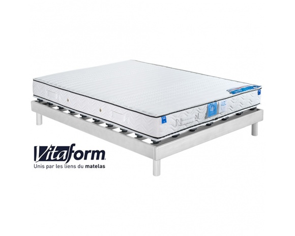 ensemble literie matelas 100 latex vitaform sommier plots millenium. Black Bedroom Furniture Sets. Home Design Ideas