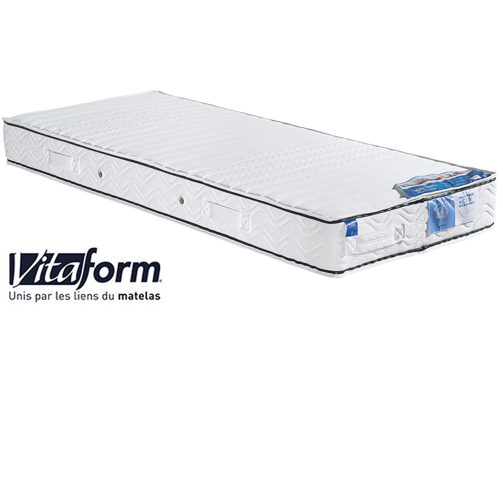 Matelas latex confort sur mesure VITAFORM, Dimensions: 80x200cm, Confort Vitaform: C