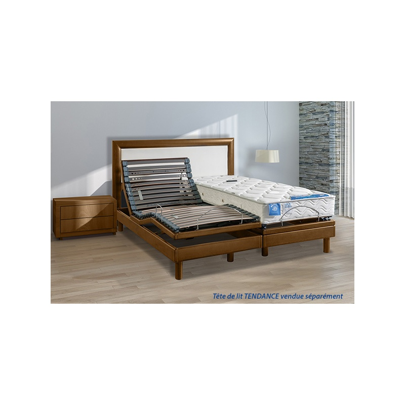 ensemble lectrique 1 personne lattes zeneo et matelas latex celeste. Black Bedroom Furniture Sets. Home Design Ideas