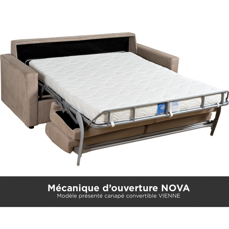 canap convertible rome avec matelas confortable 100 latex ou mousse pas cher. Black Bedroom Furniture Sets. Home Design Ideas