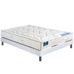 Matelas 100% latex naturel CARESSE + Sommier tapissier déco FLEXALATT
