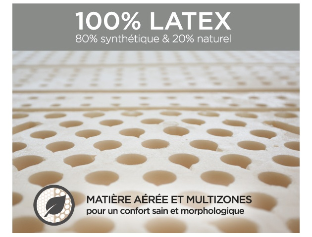 Ensemble literie latex LUNIS + FLEXALATT