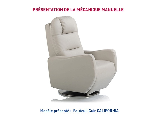 Fauteuil relaxation manuel CALIFORNIA